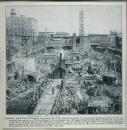 Construction de l'édifice - coins Ste-Catherine/Bleury/St- Alexandre/St-Edward [image fixe]